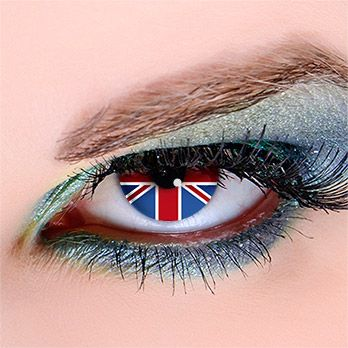 Flagge England - Kontaktlinsen für Fußball-Fans #WorldCup #football #contacts #fifa #uk