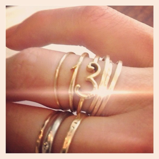 our lucky #3 and #13.  delicate stacks of gold
