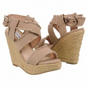 SALE - Steve Madden Fraid Wedge Heels Womens Taupe - $47.4 ONLY. Was $79.00 - You SAVE $32.00.