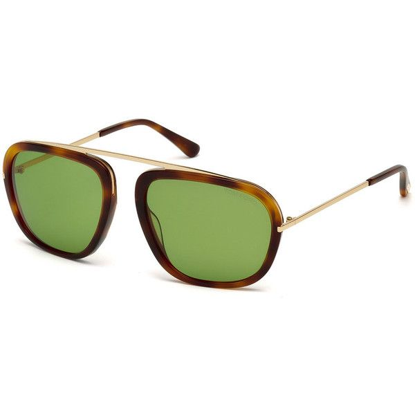 TOM FORD Johnson Medium Aviator Sunglasses (4,070 EGP) ❤ liked on Polyvore featuring men's fashion, men's accessories, men's eyewear, men's sunglasses and tom ford mens sunglasses