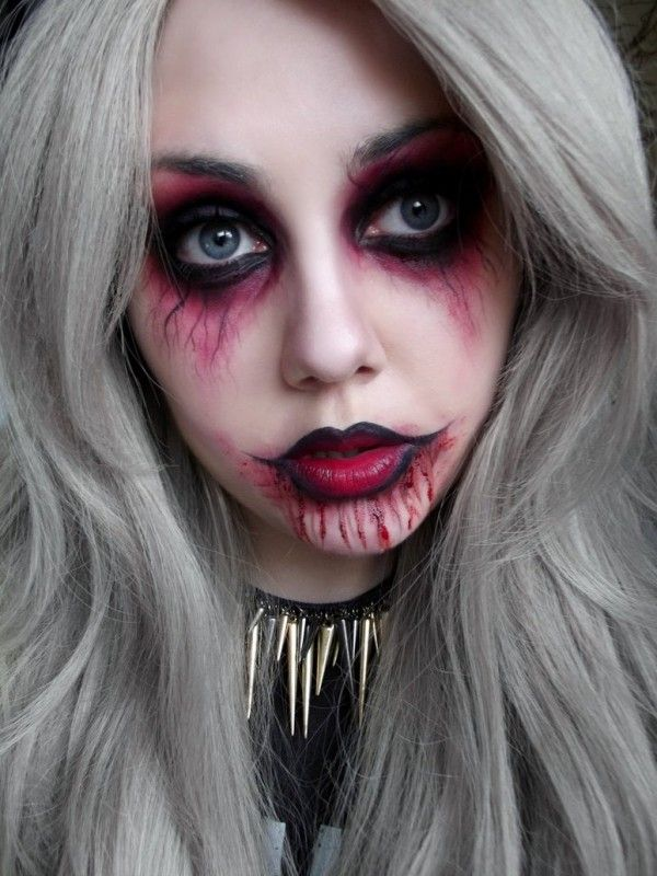 halloween punk vampire makeup ideas for girls to learn in. Black Bedroom Furniture Sets. Home Design Ideas