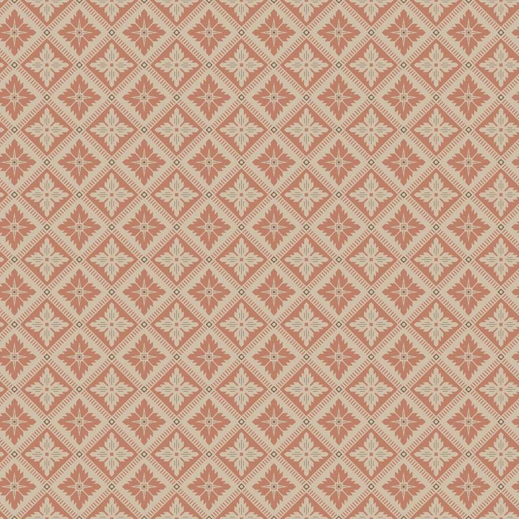 Loka by Boråstapeter Burnt Orange and Beige Wallpaper
