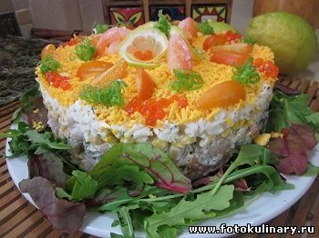 Салат с морепродуктами - Cалаты, закуски - Кулинарные рецепты ! - ФотоКулинария
