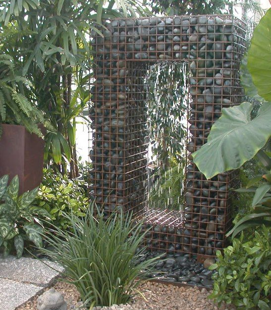 Gabion Water Fountain   Ancient Design Modern Fountain Yes, Itu0027s A Fountain!  I Love The Different Elements At Work Here   The Steel Frame Holding The  Smooth ...