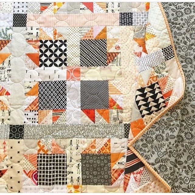 How Fun Is This Scrappy Bear Claw Quilt I Love It Quilt Made By Makervalley Southernfabric Quilt Bearcl Halloween Quilt Patterns Halloween Quilts Quilts