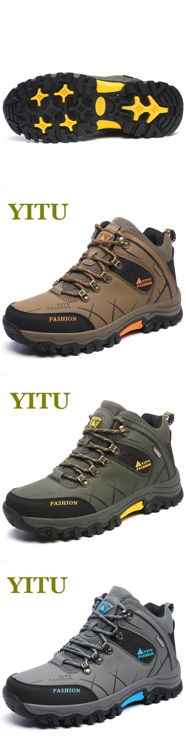 Plus size men outdoor hiking boots 2016 autumn winter sneakers warm male trekking shoes waterproof climbing shoes anti-skid