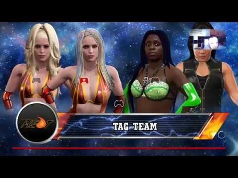 WWE2K17-DIVAS UNIVERSE-HEAT-TAG MATCH-JESSY & ALEX TORSON V NAOMI & TAMINA.