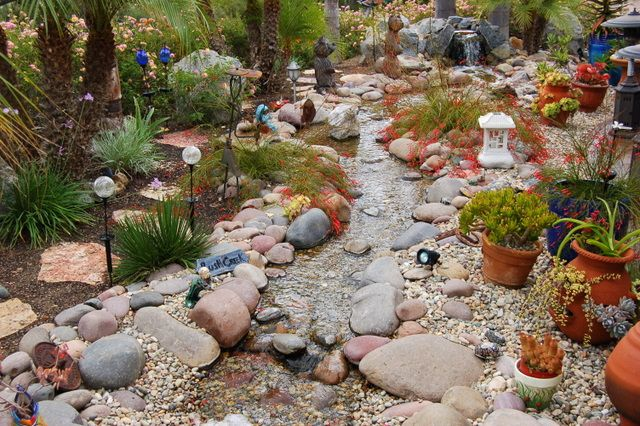 The most colorful stream! | Garden Ideas | Pinterest