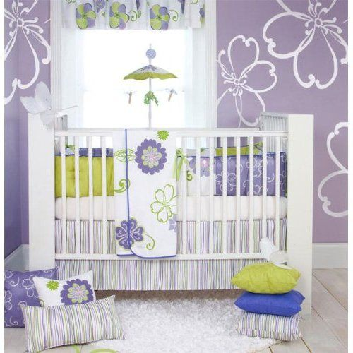 Modern Design Crib Bedding For Girls Purple For Inspiring