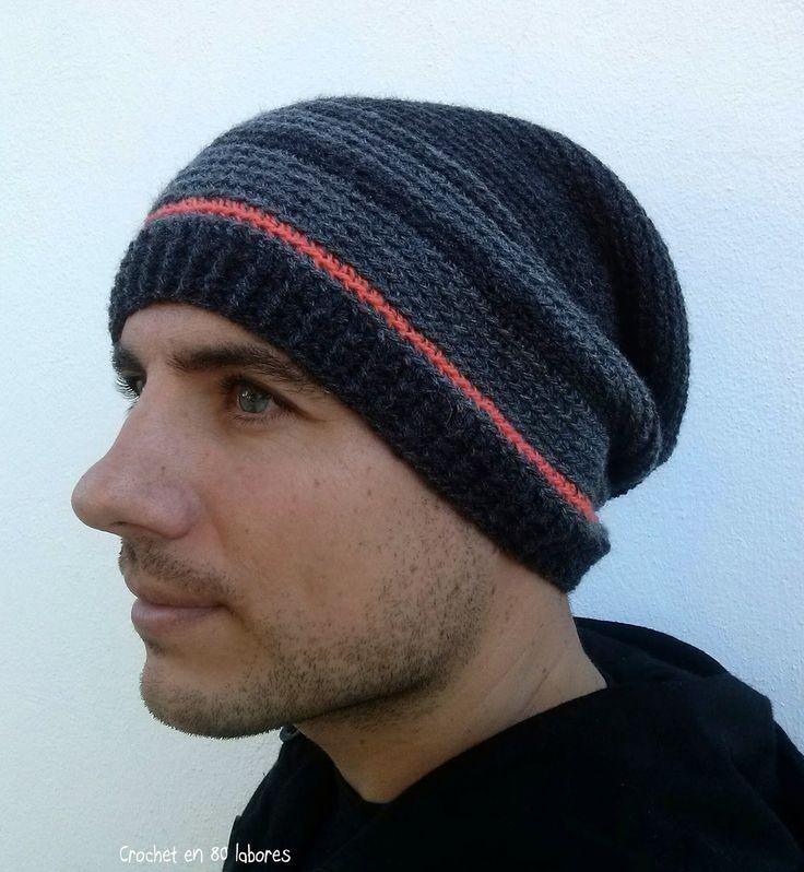 Crochet en 80 labores: Slouchy beanie de crochet para hombre