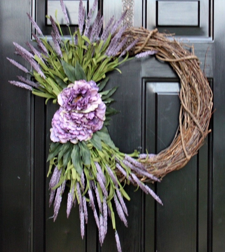 Mother's Day - Wreath, May 12th, Spring Wreaths, Spring Decorations, Free Shipping to US Addresses.. $52.00, via Etsy.