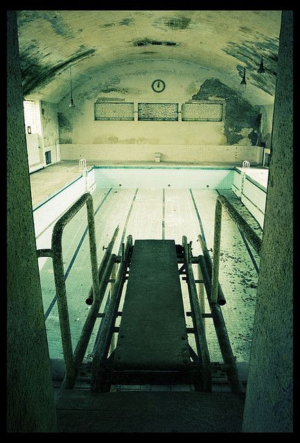 Abandoned pool in the Olympic Village, Berlin, Germany - 1936 This was the swimming pool where the athletes could train during their stay in the village.: