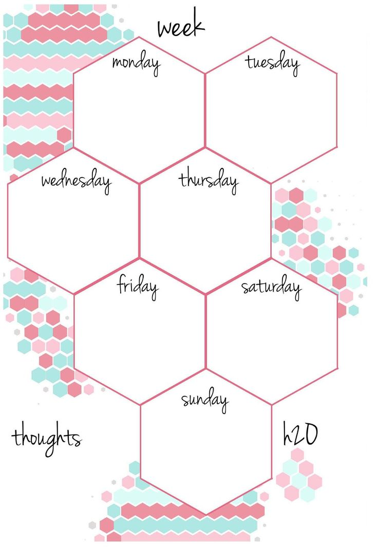 CANDY HEXAGON    Planner Inserts | Undated A5 & A6   week on a page   to do + notes   FREE DOWNLOAD ENJOY!