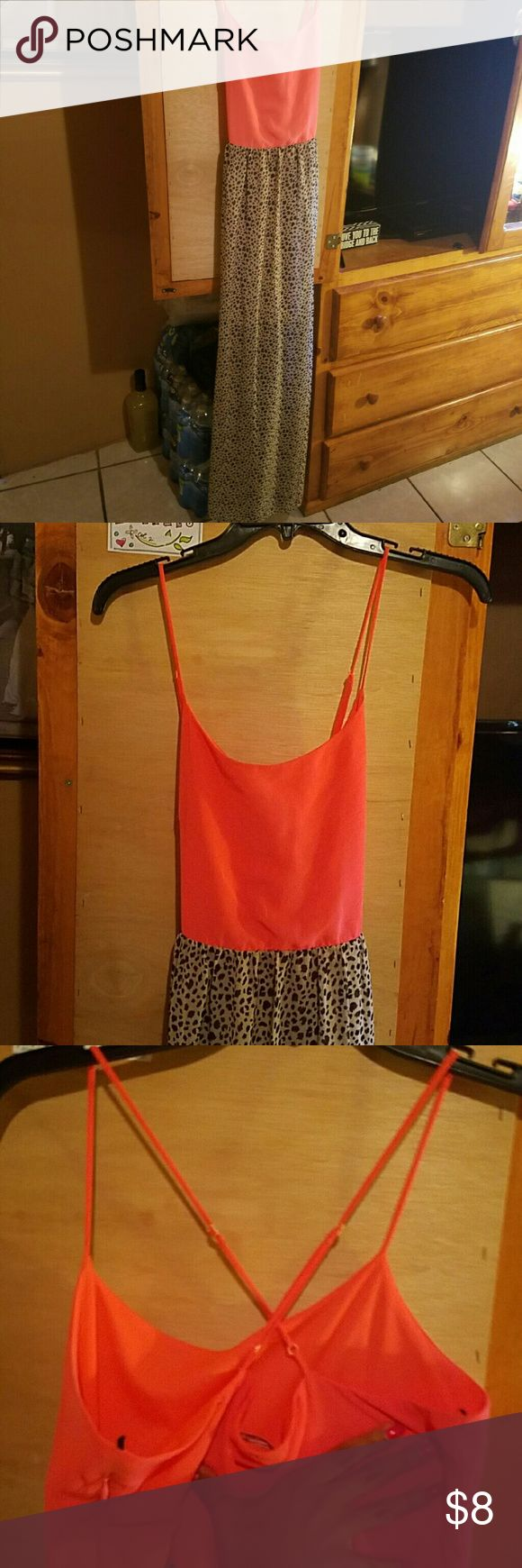 Cheetah Dress It's been used a hand full of times, it's still in good condition, long and fully Charming Charlie Dresses Maxi