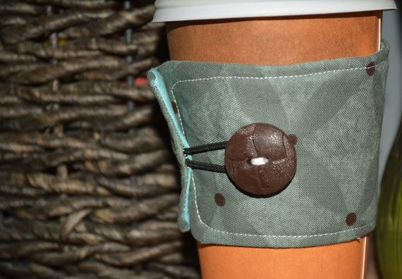 Reusable Coffee Cozy Cup Sleeve  Contemporary by QuiltedCharms, $3.99
