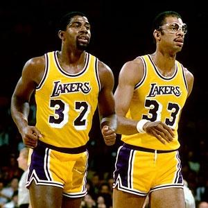 Magic Johnson & Kareem Abdul-Jabbar-  What a lethal combination!