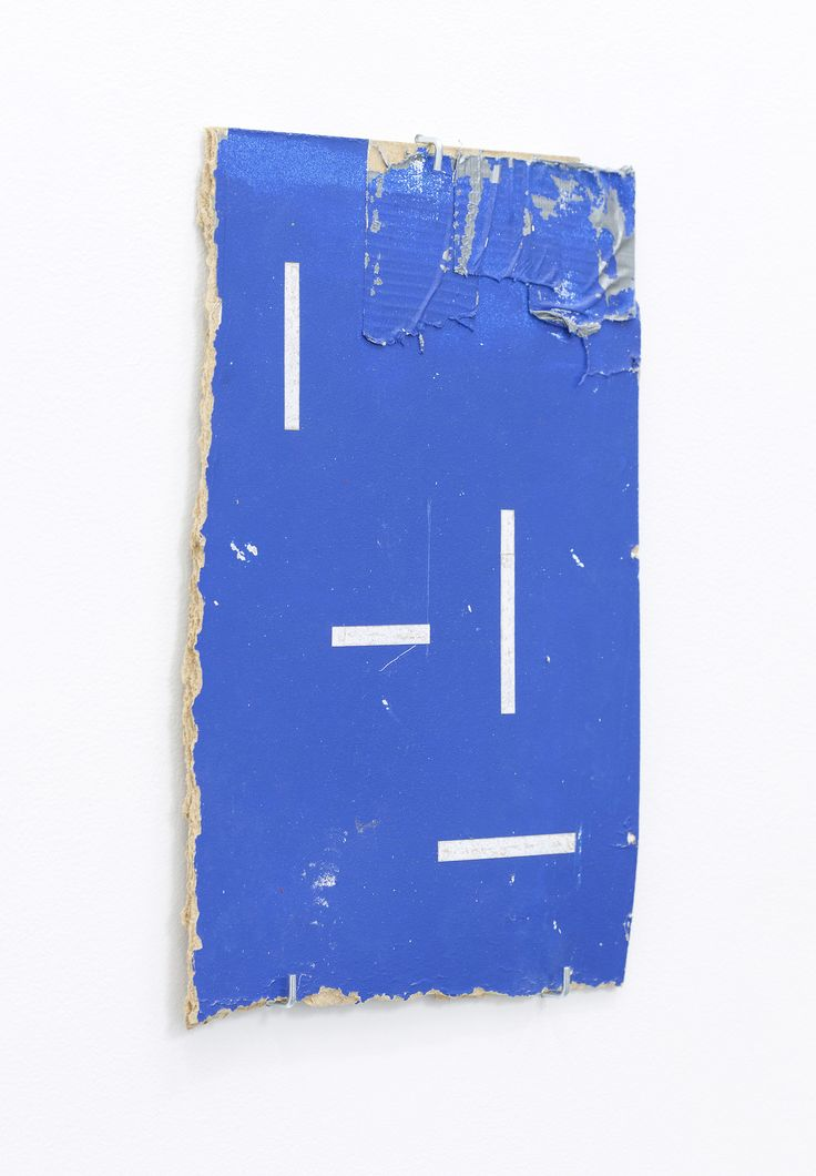 Patrick Lundberg, No Title, 2012, incised found paint on board 10.6 x 7.5 inches.