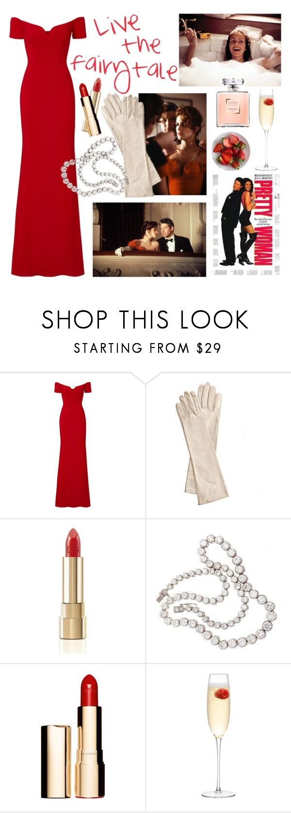 """""""Pretty woman"""" by sophier on Polyvore featuring Badgley Mischka, Mark & Graham, Dolce&Gabbana, Clarins and LSA International"""