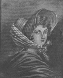 Emily Bronte, from a painting by sister Charlotte Bronte