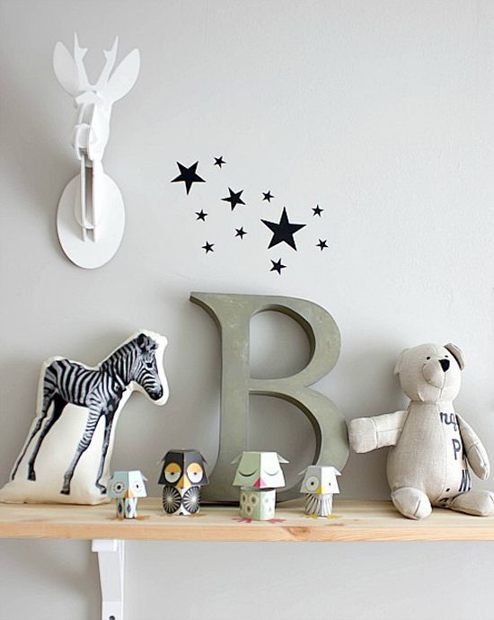 Een leuke decoratie voor elke Bob, Bart, Berend of Bernard en mocht de kleine een andere naam hebben, dan koop je gewoon een andere letter!