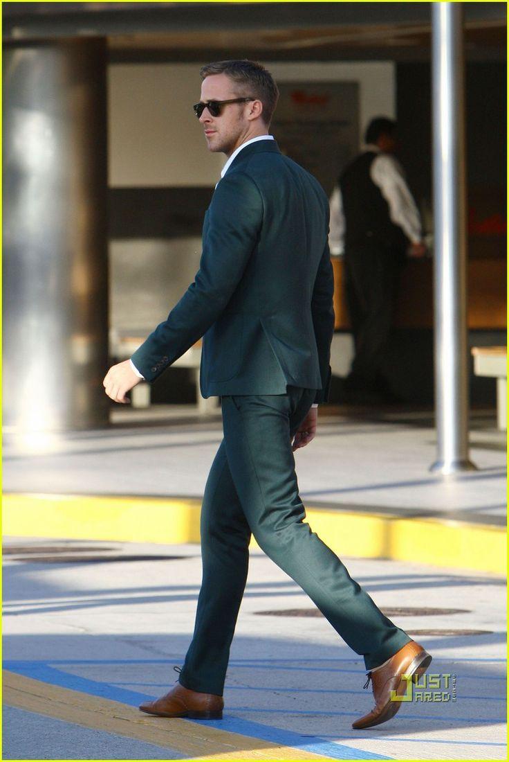 Ryan Gosling Suit Ryan gosling's green suit.
