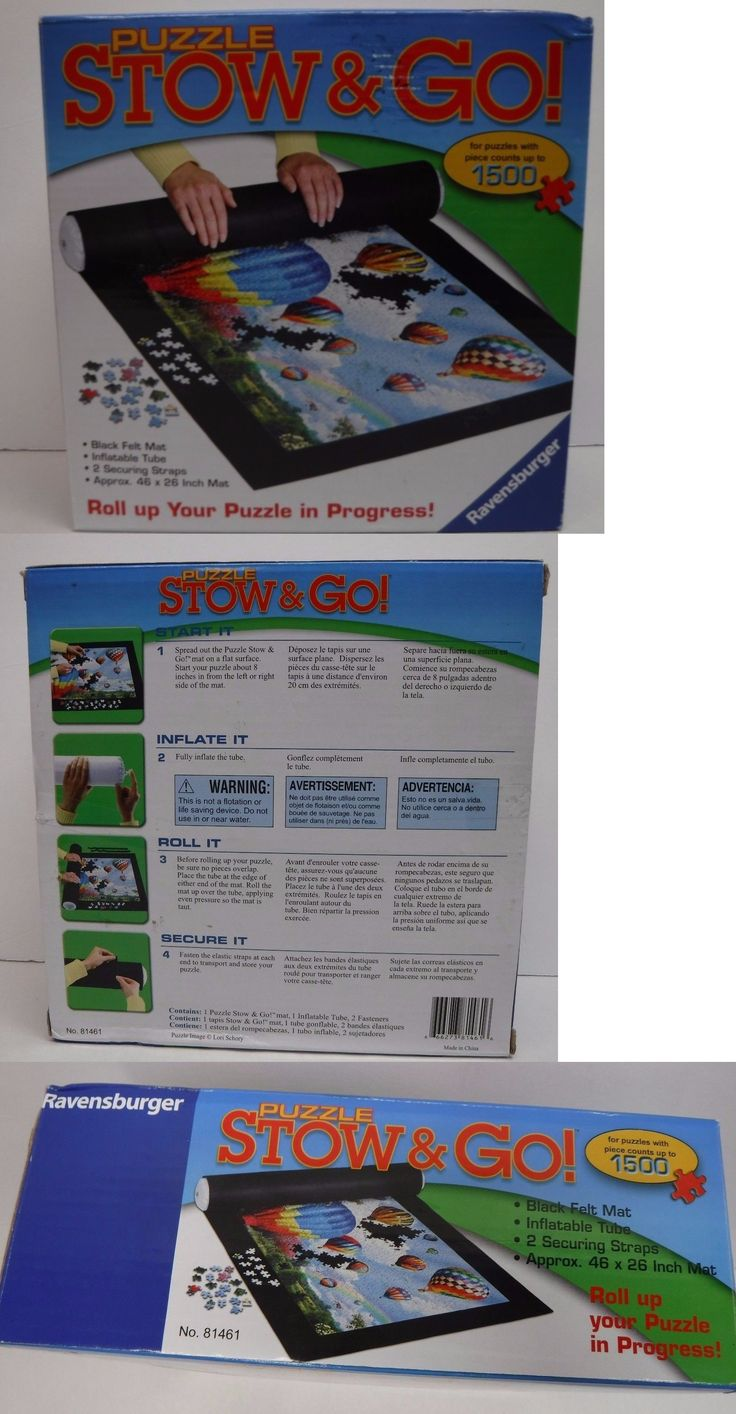Storage Mats and Glue 180021: Ravensburger Puzzle Storage System Stow And Go Black Mat 46 X 26 New -> BUY IT NOW ONLY: $49 on eBay!