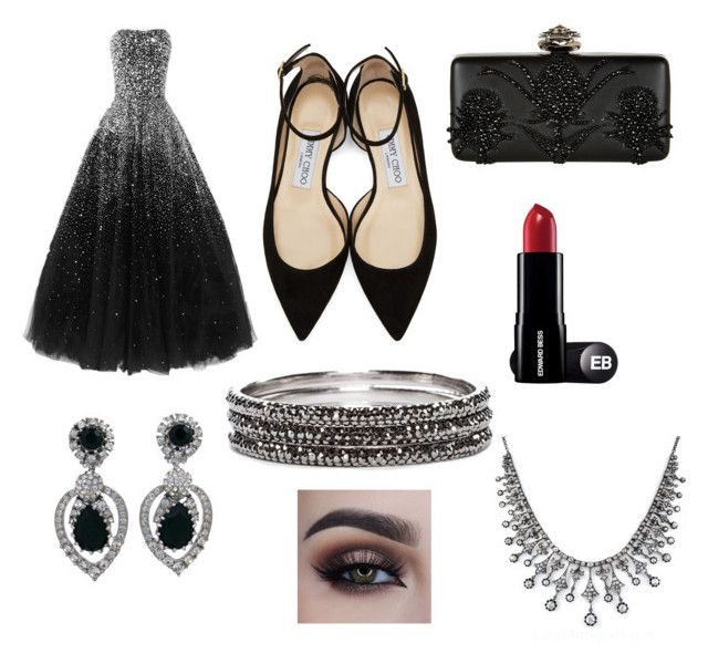 party by annajo-i on Polyvore featuring polyvore fashion style Jimmy Choo Alexander McQueen Chico's Ciner clothing