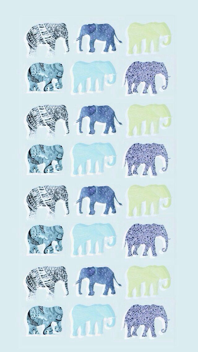 Iphone wallpaper - elephants