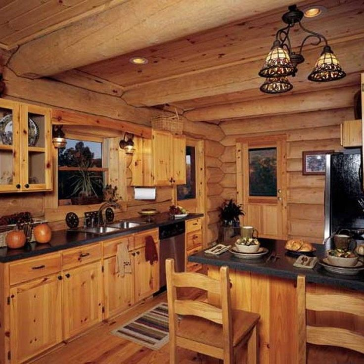 Best 25 log cabin kitchens ideas on pinterest log cabin for Log cabin kitchen backsplash ideas