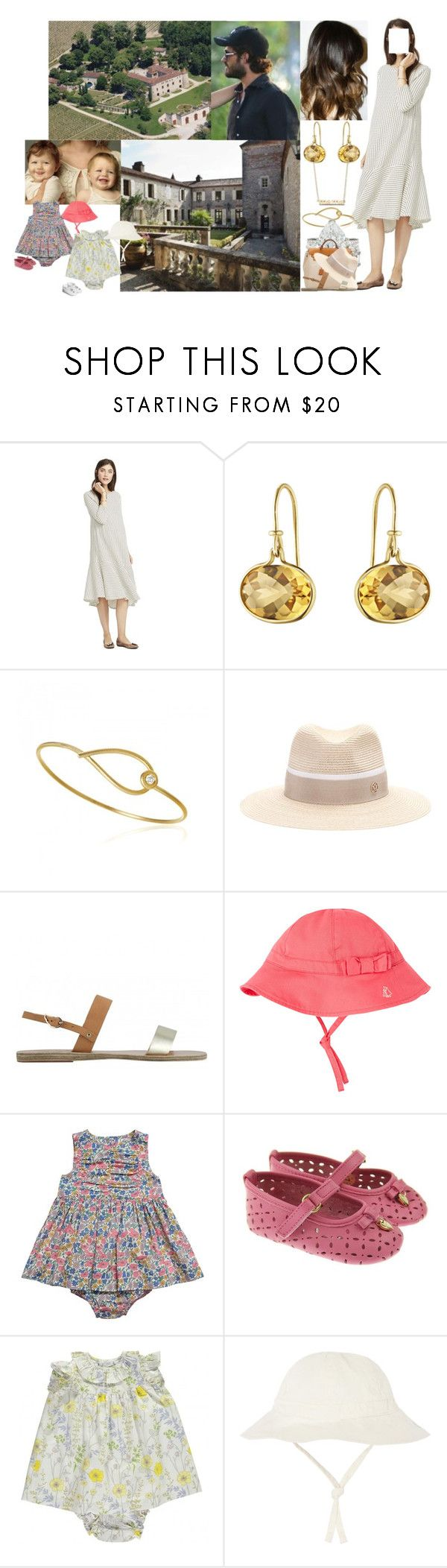 """""""Arriving at Château de Cayx in the South of France with Carl-Philip, the Girls, and her Family & Settling In"""" by louiseingrid-ofdenmark ❤ liked on Polyvore featuring Kharisma, Le Chateau, Hermès, Maison Michel, Ancient Greek Sandals, Petit Bateau, Liberty and Dolce&Gabbana"""