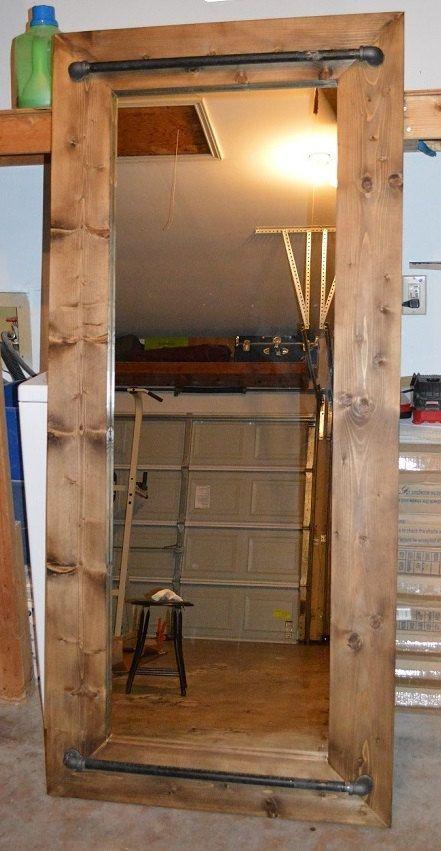 Industrial Rustic Floor Mirror by AppleCreekFurniture on Etsy, $425.00