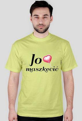 """Kocham Śląsk: Koszulka z aplikacją """"Jo lubia maszkecić"""""""