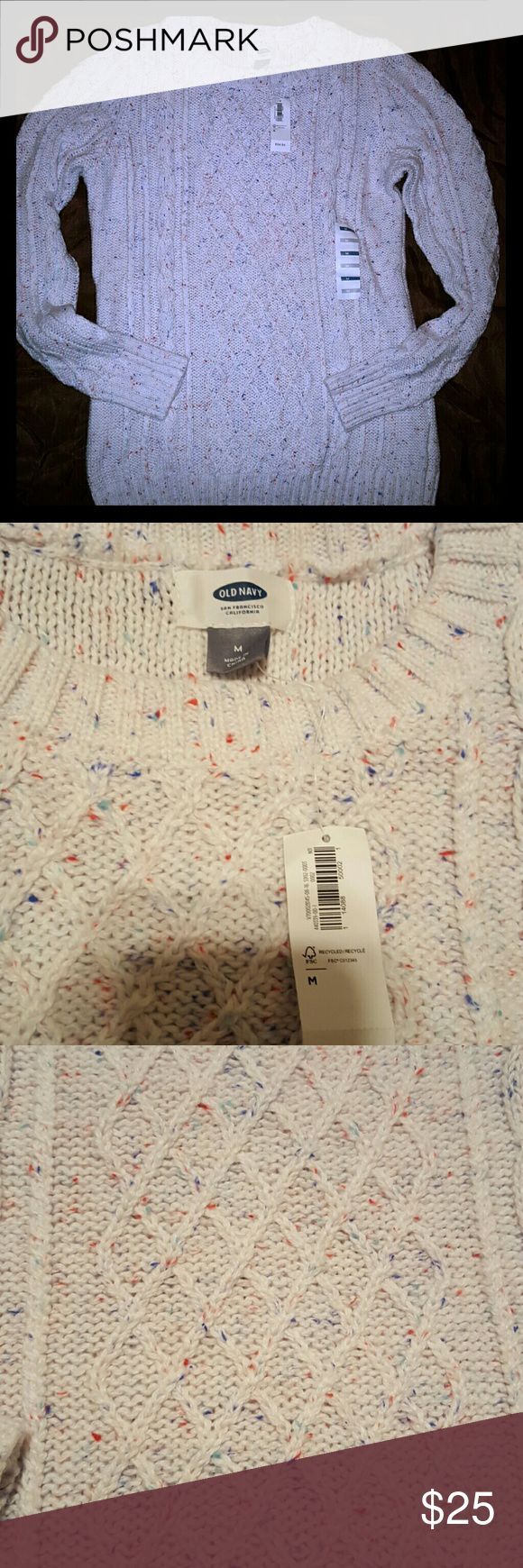 Old Navy Sweater Multi-color Cable Knit Sweater. Brand new, never worn Old Navy Sweaters Crew & Scoop Necks