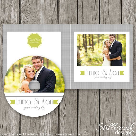 Wedding CD Label Template - DVD Case - CD Sleeve Cover Sticker - CL11