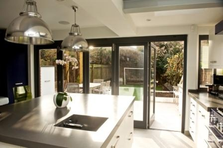 Interior view of timber Bi-Fold doors by The Sash Window Workshop