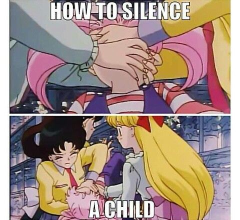 Sailor Moon / How to silence a child lol
