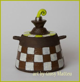 l'arte di Giosy: Scatola-contenitore in ceramica
