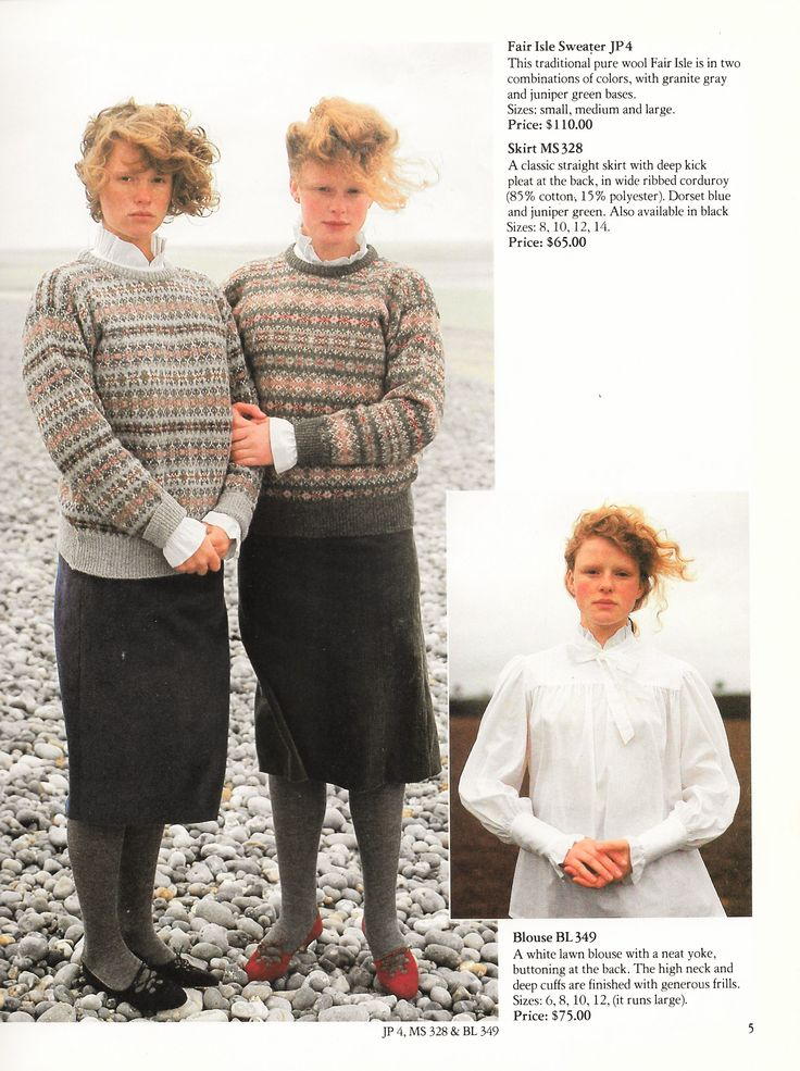 Laura Ashley 1983 Autumn Winter Fashion Catalog -- those are some flattering outfits. Yep, and I really wanted them.  Oh, my mother did not like these clothes. I think she was afraid my sister and I would never get married dressing like this.  She had a point.