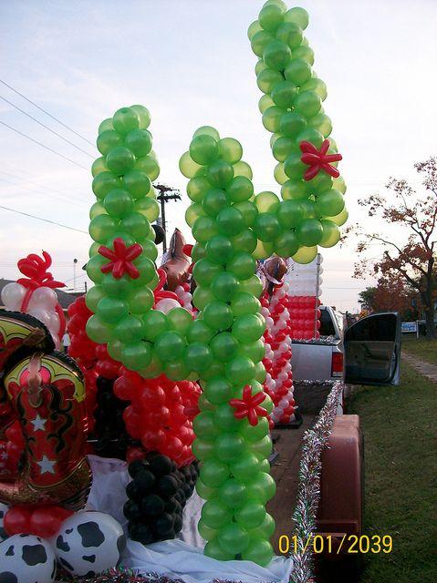 Cactus Balloon Sculpture Indian party themes