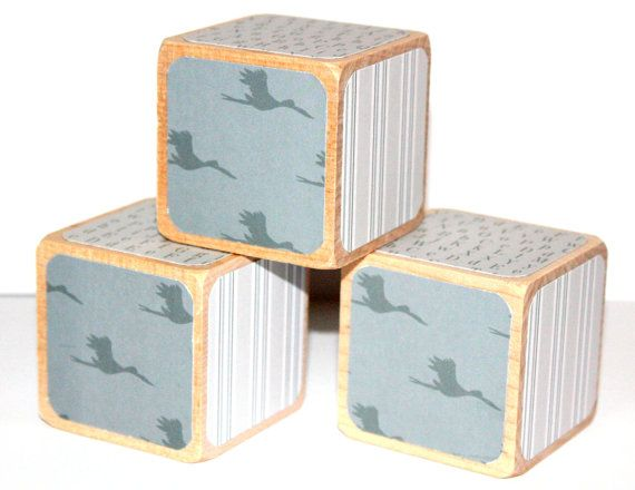 100 ideas to try about personalized baby gifts personalized clearance grey nursery decor wooden baby blocks baby boy stork alphabet blocks stripes childrens wooden blocks 2 inch negle Images