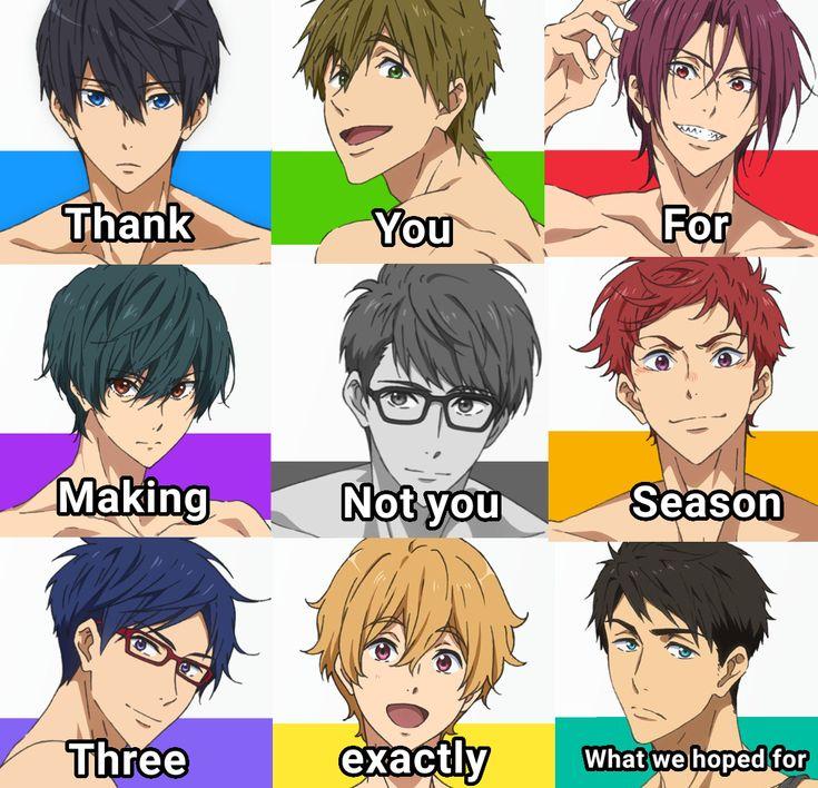 Free! Season 3 meme Free! Free iwatobi, Free anime