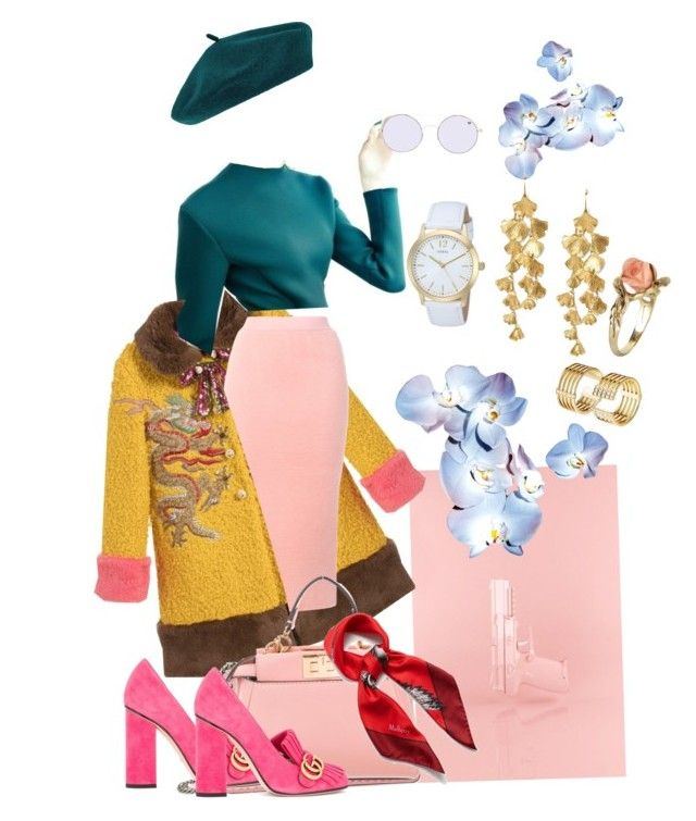 """""""Henri Matisse-styling look 2"""" by alexgasbakk on Polyvore featuring Gucci, Twin-Set, Fendi, Mulberry, Accessorize, GUESS, Forever 21, Tory Burch and Vintage"""