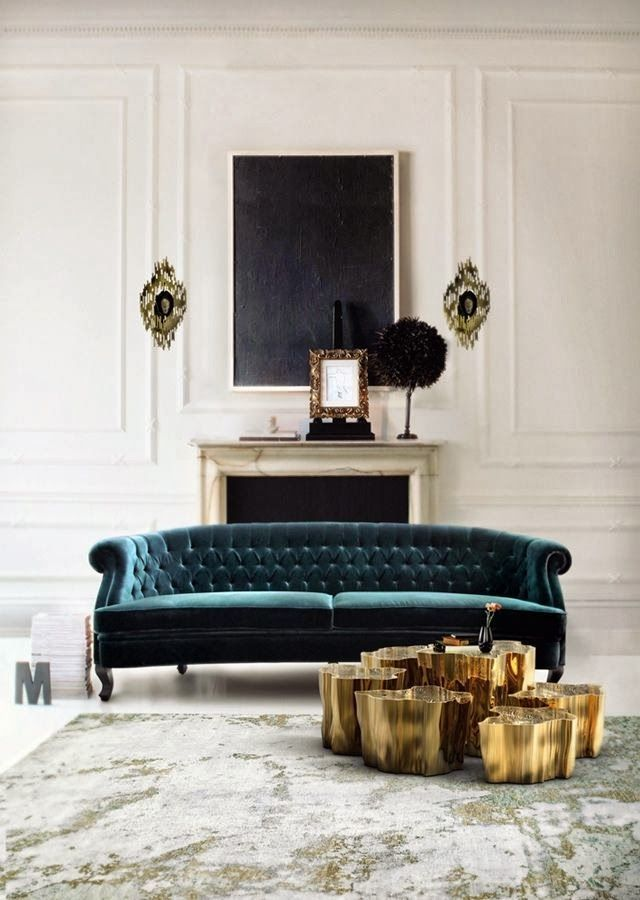 / gold coffee table /
