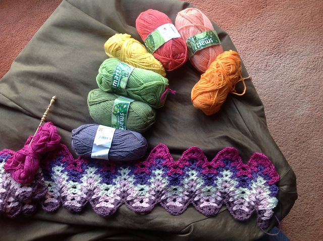 Amish Ripple crochet blanket, many colors.