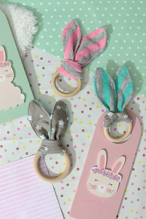 Nähanleitung: super easy DiY! Rabbit Ears Grabber / Beißring für Babys …   – Nähen