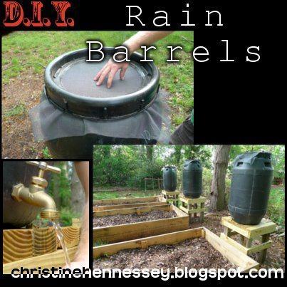 Rain barrels rain barrels pinterest rain rain for How to make your own rain barrel system