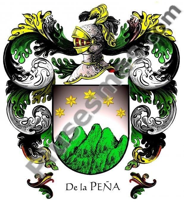 Escudo Del Apellido De La Peña Coat Of Arms Family Shield Family Crest