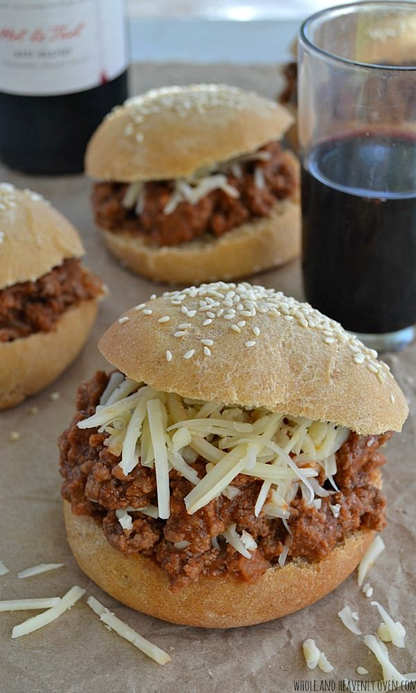 You just can't beat good 'ol classic sloppy joes for dinner on busy weeknights—This slow-cooked sauce is packed FULL of cozy fall flavors you'll love! @WholeHeavenly
