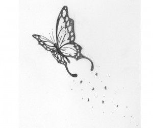 butterfly with a star trail tattoo appreciation pinterest butterflies stars and wallpapers. Black Bedroom Furniture Sets. Home Design Ideas