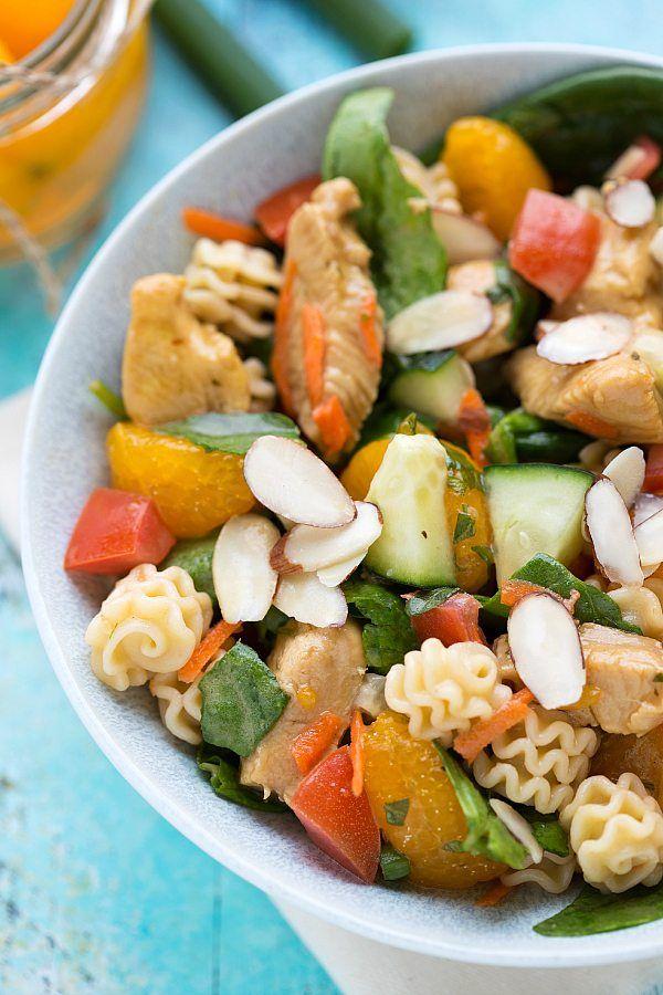 Delicious Mandarin Chicken Pasta Salad
